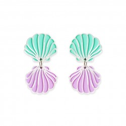 PENDIENTES 3D CONCHITAS MULTICOLOR