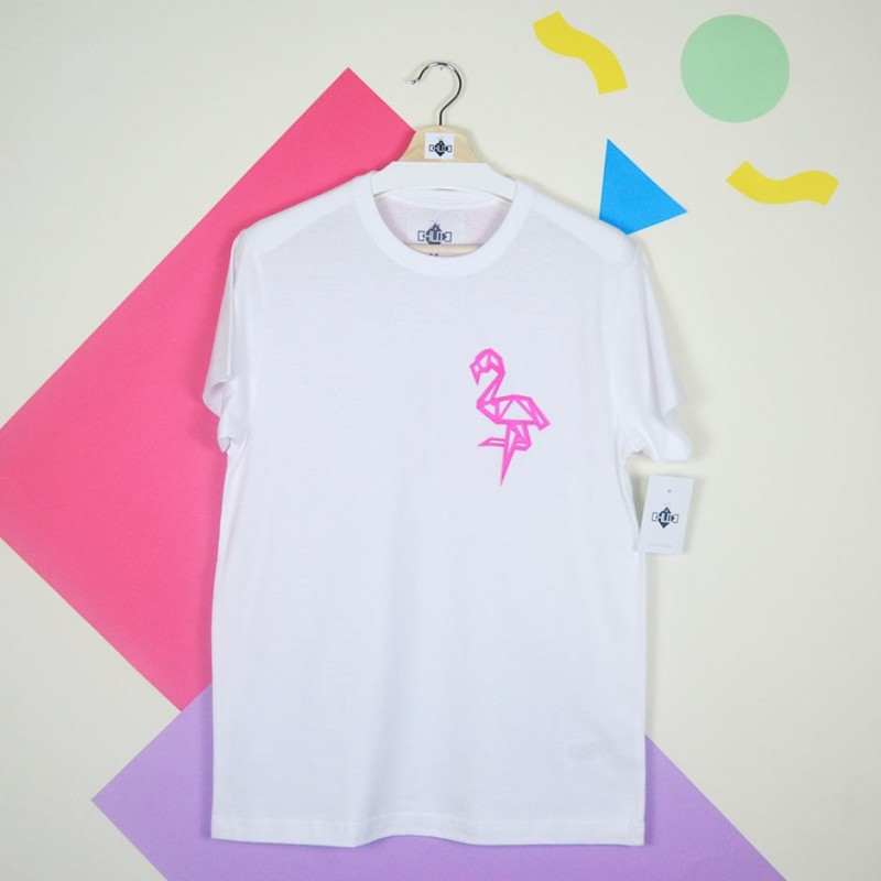 CAMISETA BLANCA FLAMENCO