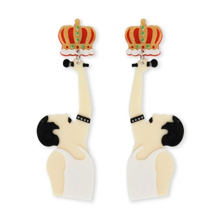 PENDIENTES 3D KING OF ROCK